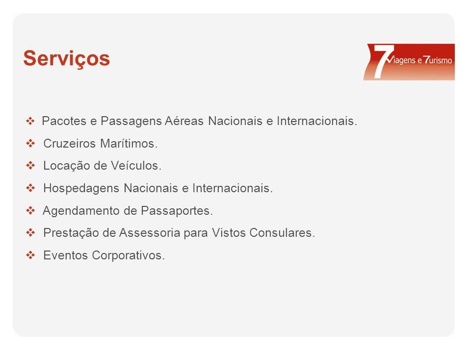 Serviços Cruzeiros Marítimos. Locação de Veículos.