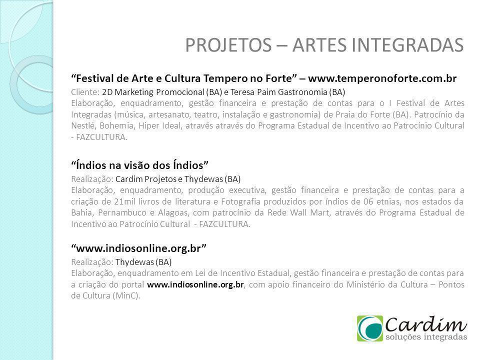 PROJETOS – ARTES INTEGRADAS