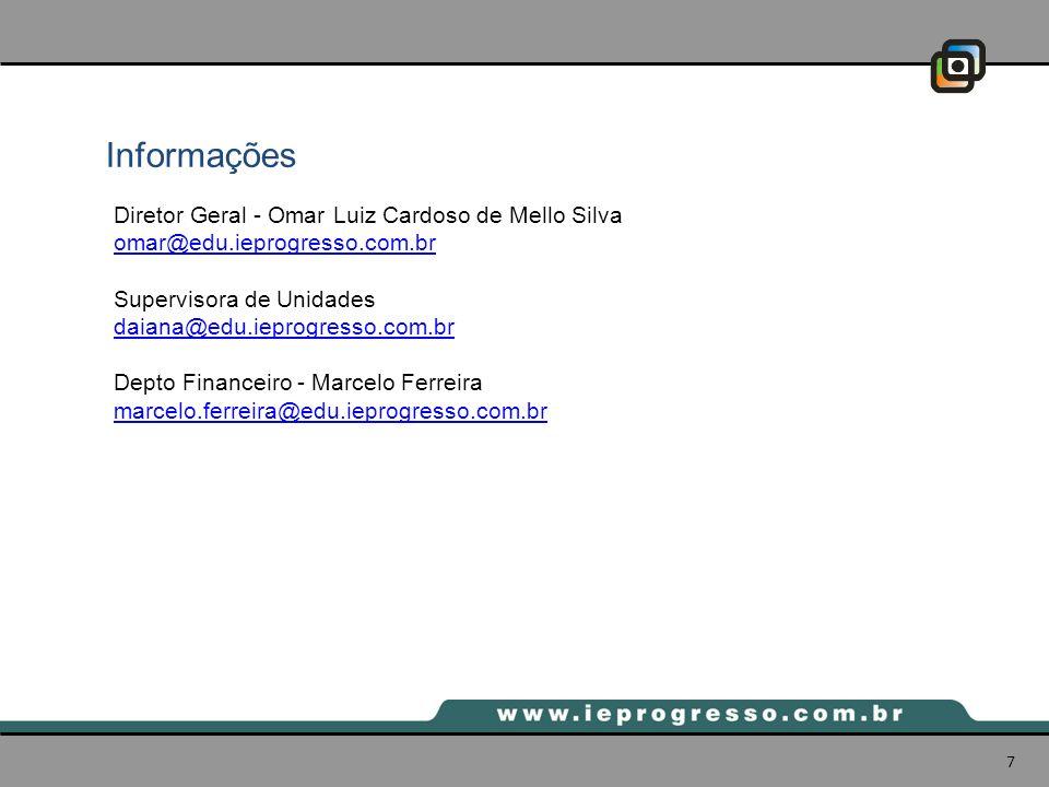 Informações Diretor Geral - Omar Luiz Cardoso de Mello Silva