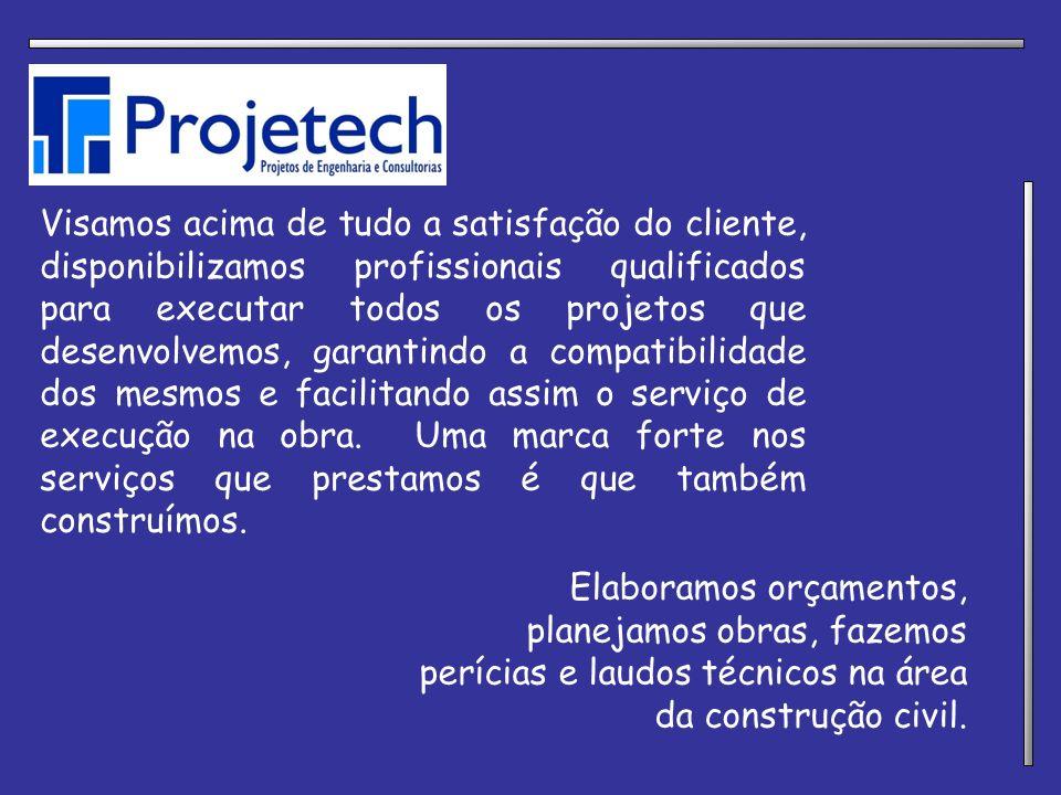 Visamos acima de tudo a satisfação do cliente, disponibilizamos profissionais qualificados para executar todos os projetos que desenvolvemos, garantindo a compatibilidade dos mesmos e facilitando assim o serviço de execução na obra. Uma marca forte nos serviços que prestamos é que também construímos.