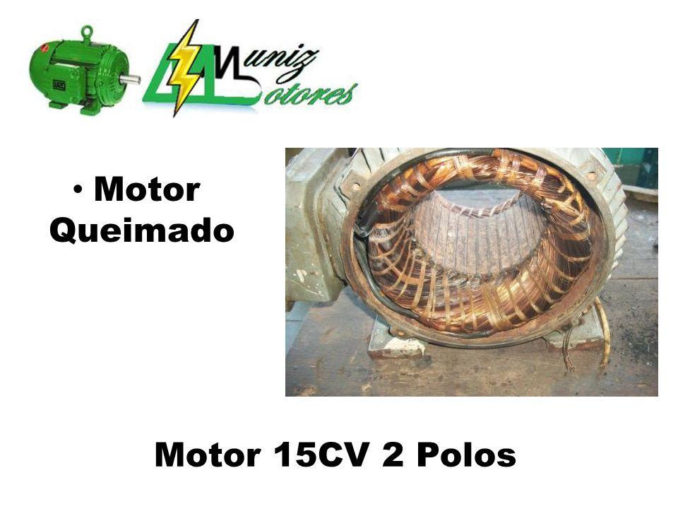 Motor Queimado Motor 15CV 2 Polos