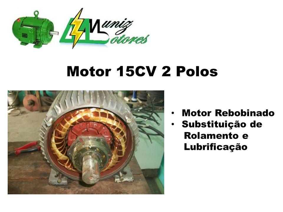 Motor 15CV 2 Polos Motor Rebobinado Substituição de Rolamento e