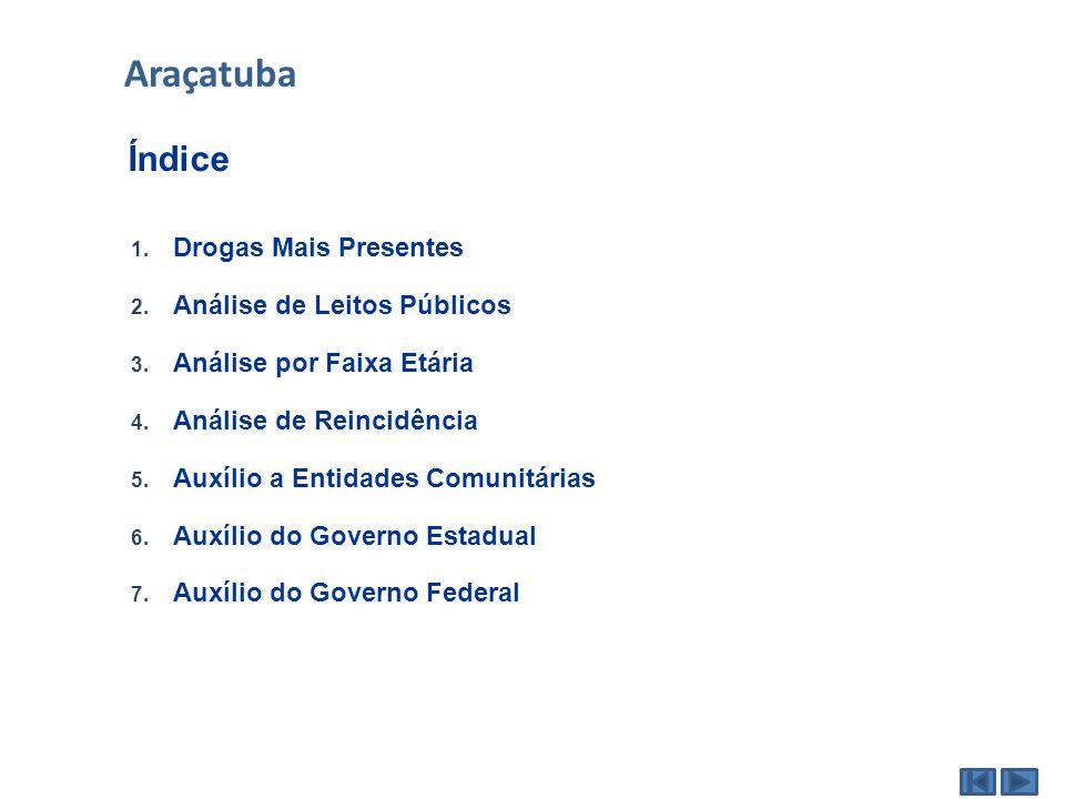 Araçatuba Índice Drogas Mais Presentes Análise de Leitos Públicos
