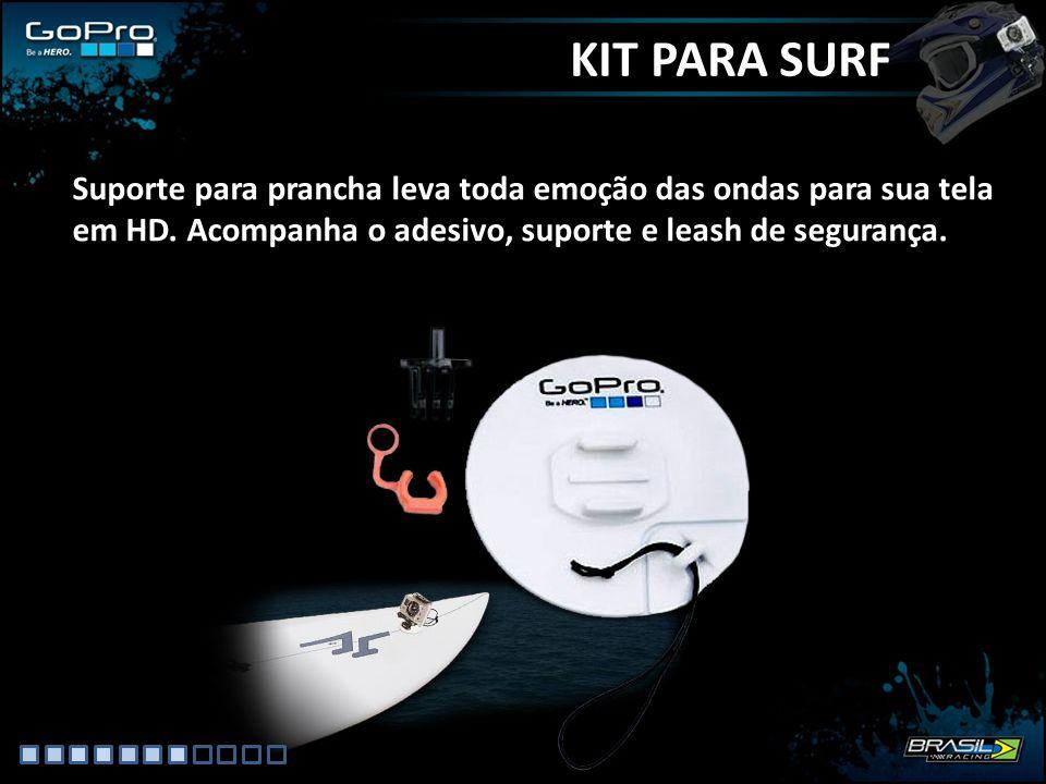 KIT PARA SURF Suporte para prancha leva toda emoção das ondas para sua tela em HD.