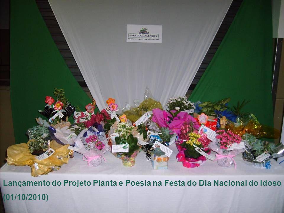 Lançamento do Projeto Planta e Poesia na Festa do Dia Nacional do Idoso