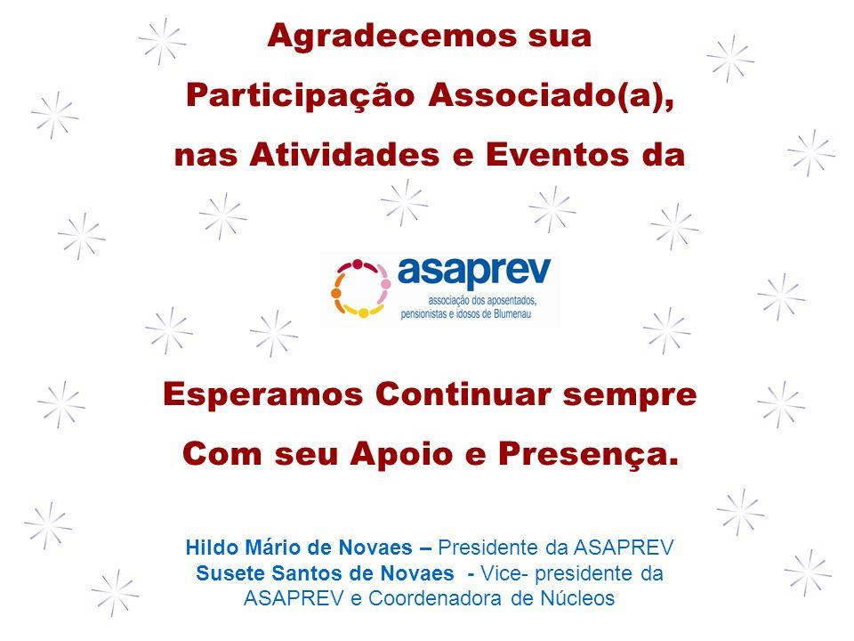 Participação Associado(a), nas Atividades e Eventos da