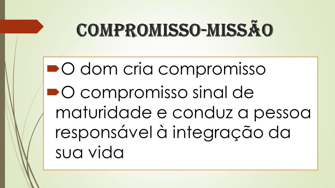 Compromisso-missão O dom cria compromisso