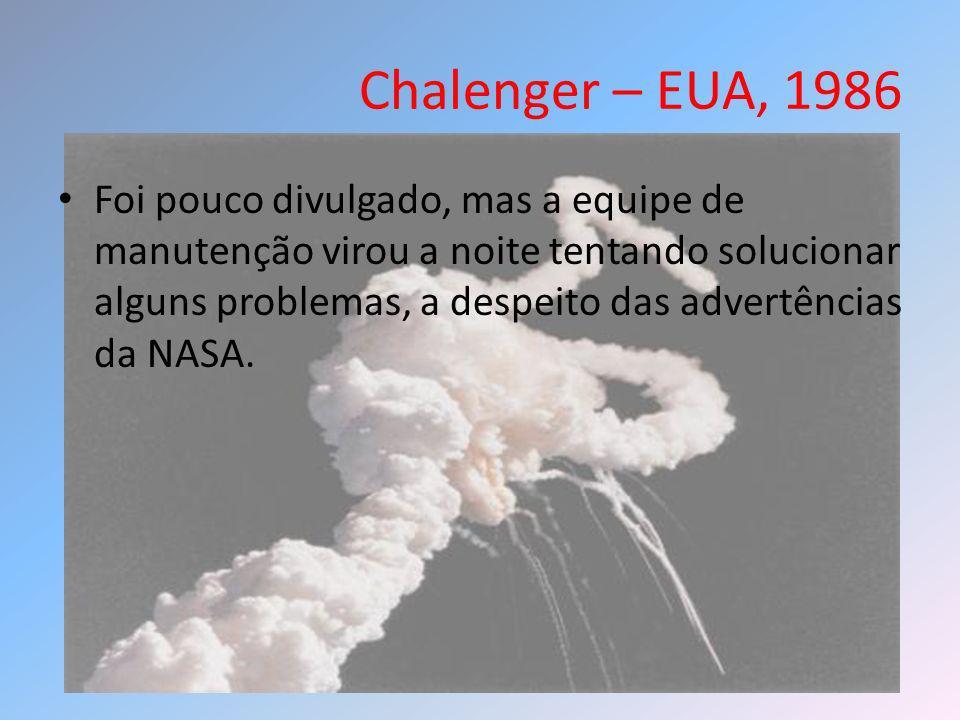 Chalenger – EUA, 1986