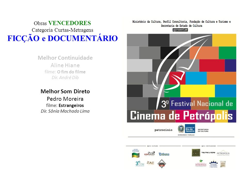Categoria Curtas-Metragens