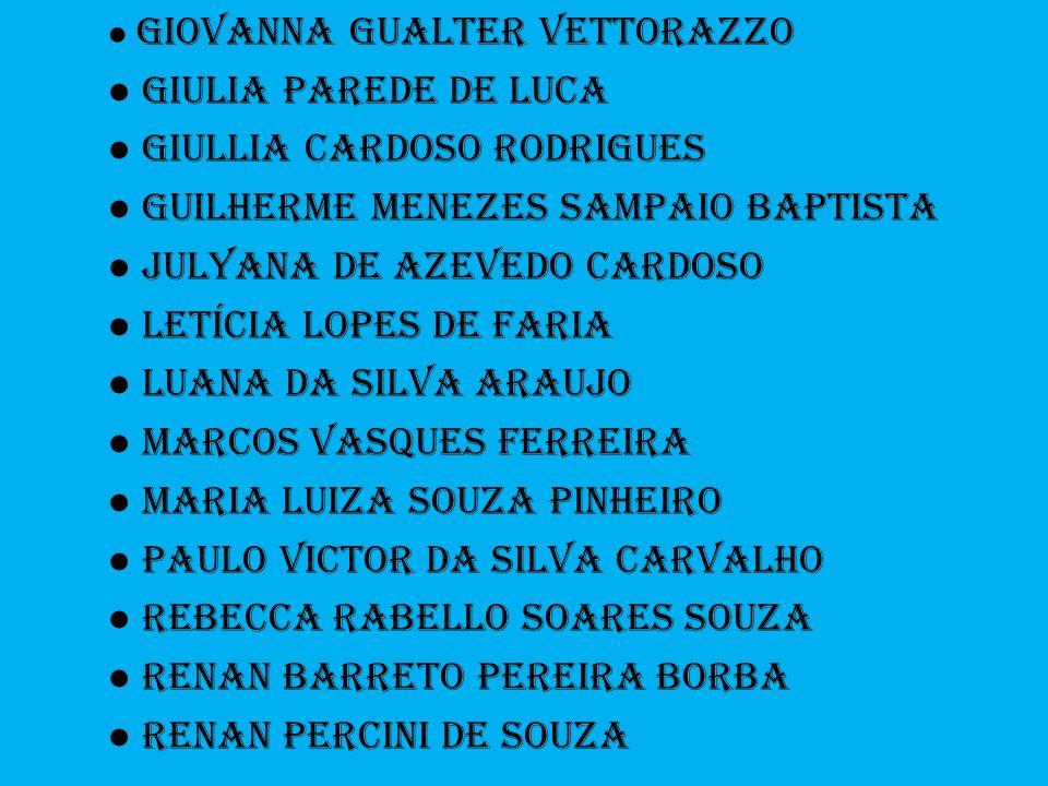 ● Giullia Cardoso Rodrigues ● Guilherme Menezes Sampaio bAPTISTA