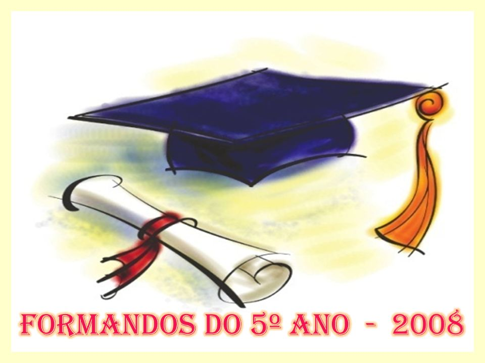 Formandos do 5º ano - 2008