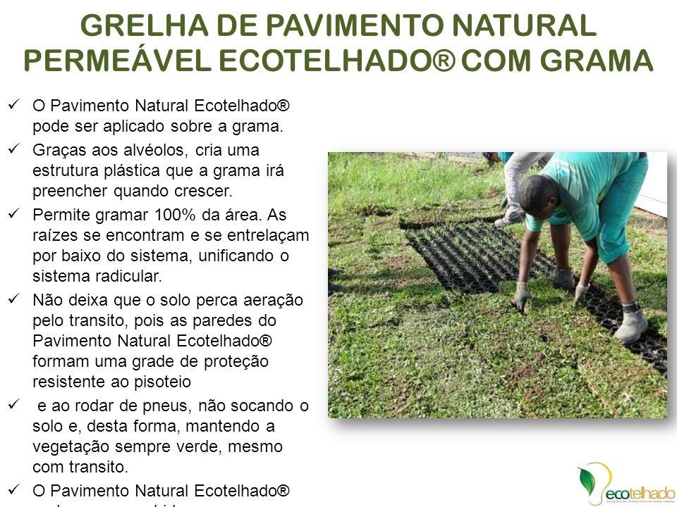 GRELHA DE PAVIMENTO NATURAL PERMEÁVEL ECOTELHADO® COM GRAMA