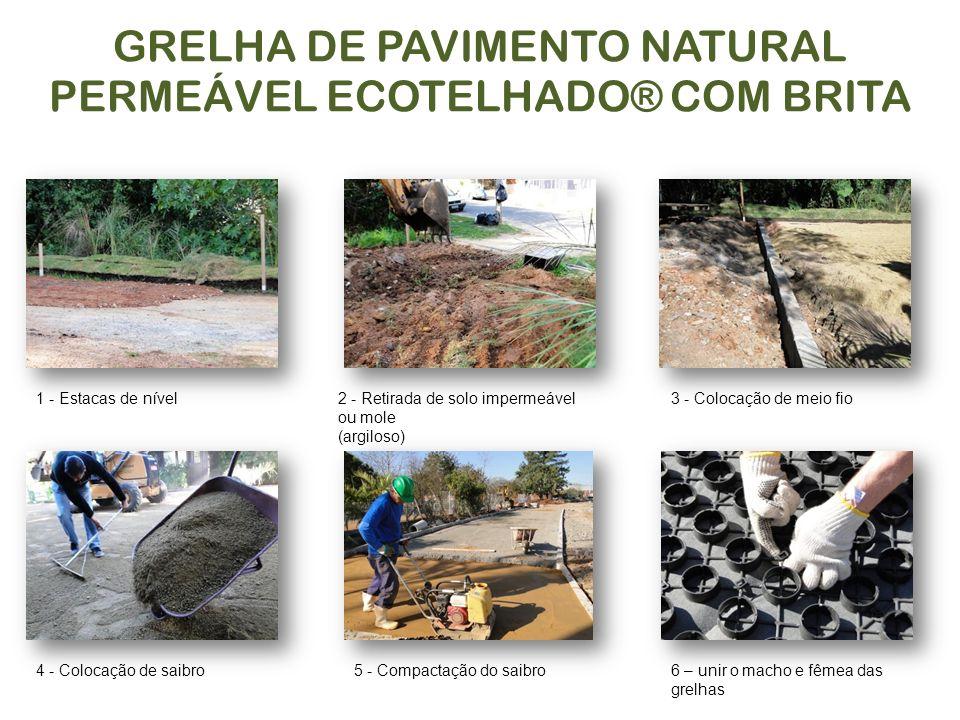 GRELHA DE PAVIMENTO NATURAL PERMEÁVEL ECOTELHADO® COM BRITA