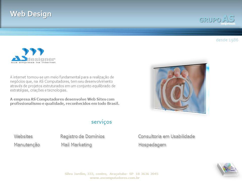 AS Web Design GRUPO serviços desde 1986