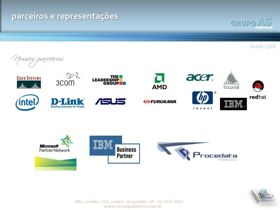 AS parceiros e representações GRUPO desde 1986