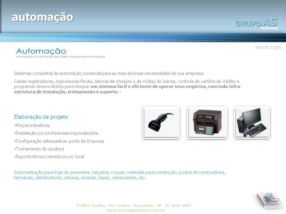 automação AS GRUPO desde 1986 Elaboração de projeto