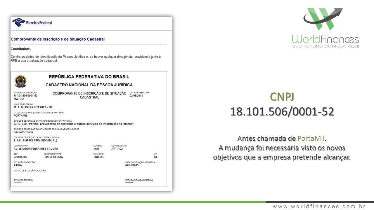 CNPJ 18.101.506/0001-52 Antes chamada de PortaMil.