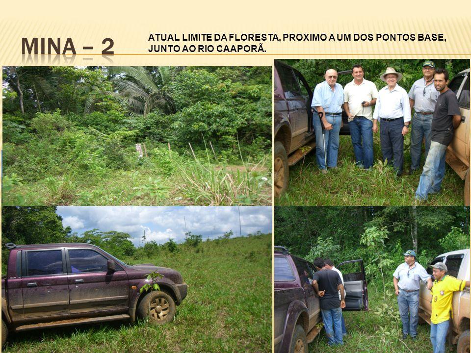 MINA – 2 ATUAL LIMITE DA FLORESTA, PROXIMO A UM DOS PONTOS BASE, JUNTO AO RIO CAAPORÃ.