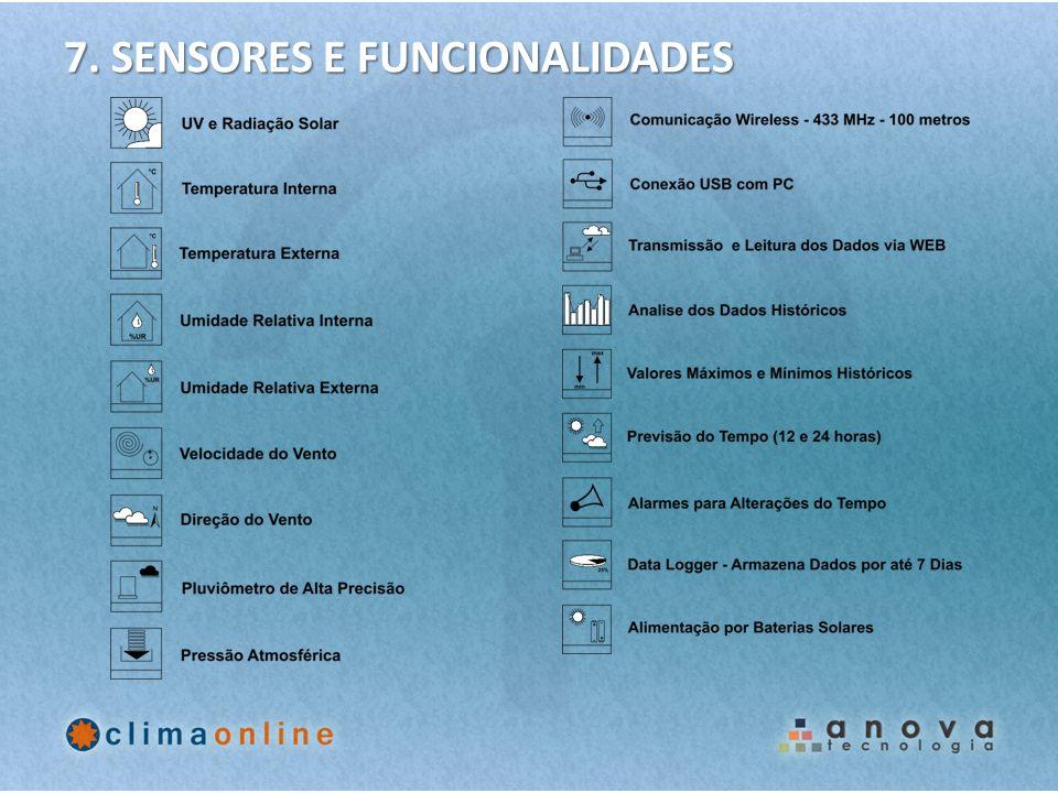 7. SENSORES E FUNCIONALIDADES