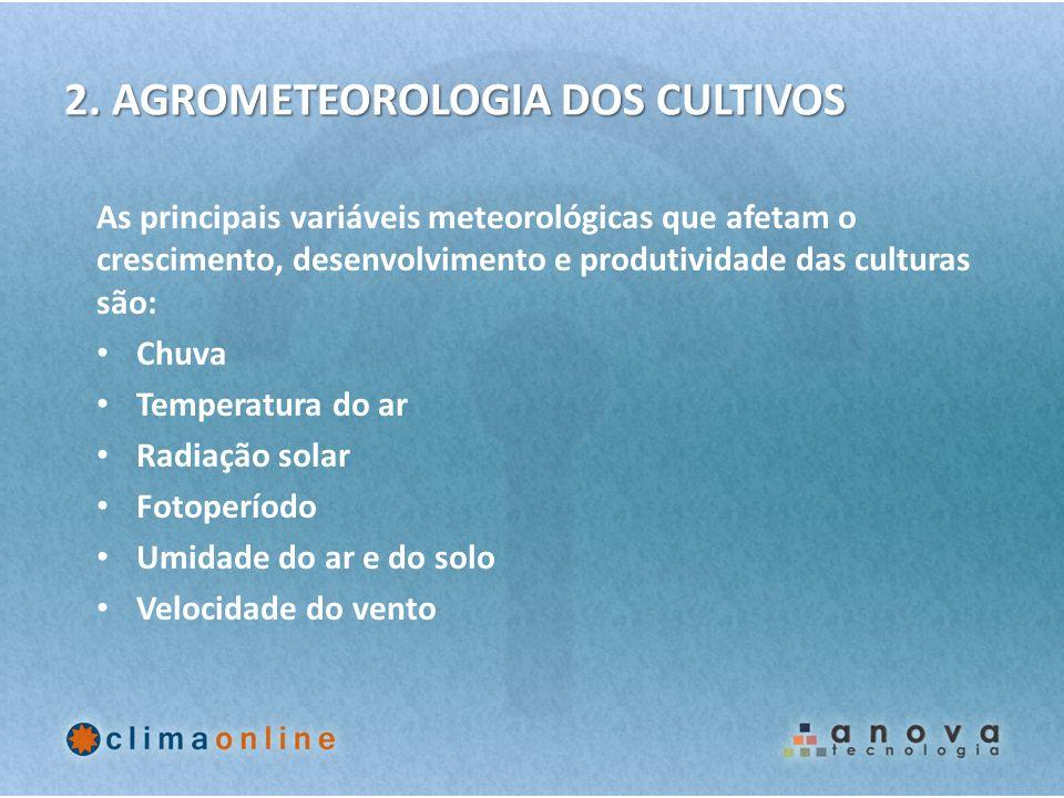 2. AGROMETEOROLOGIA DOS CULTIVOS