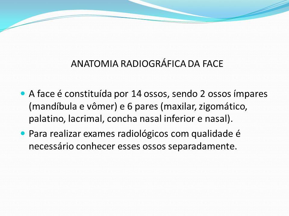 ANATOMIA RADIOGRÁFICA DA FACE
