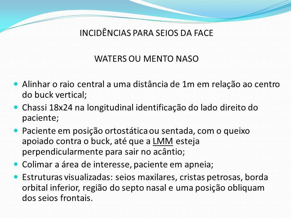 INCIDÊNCIAS PARA SEIOS DA FACE