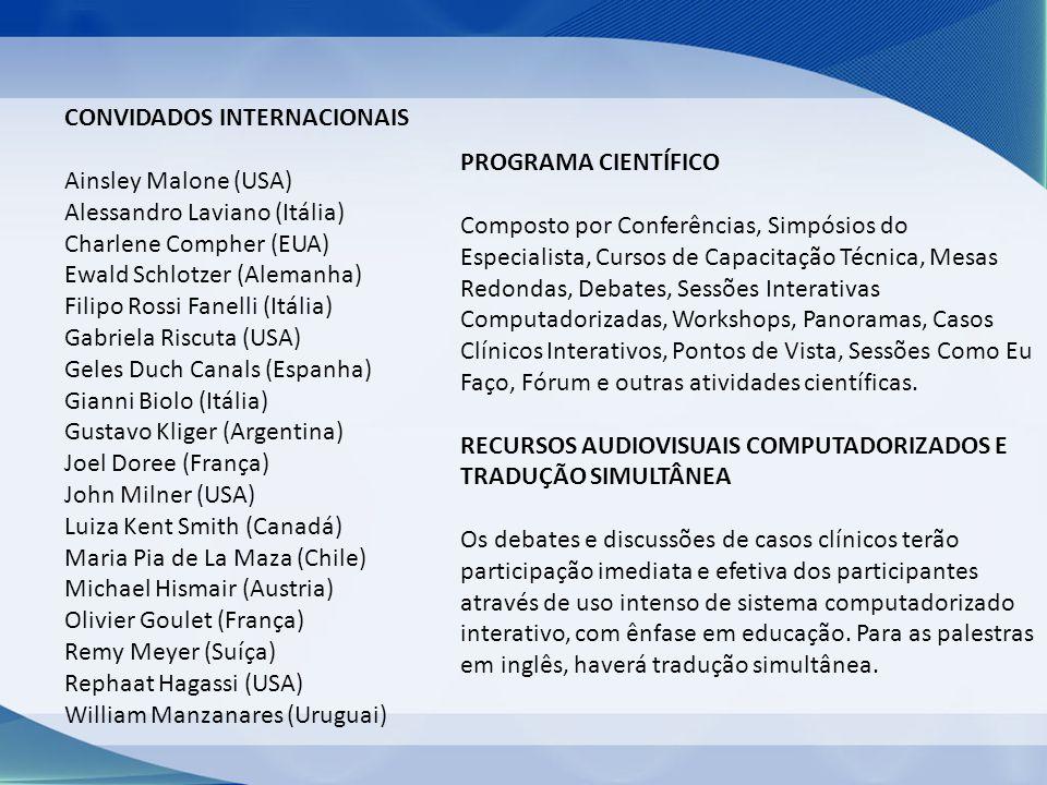 CONVIDADOS INTERNACIONAIS