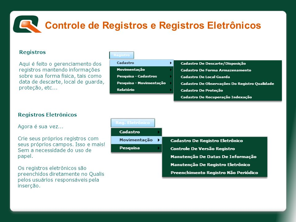 Controle de Registros e Registros Eletrônicos