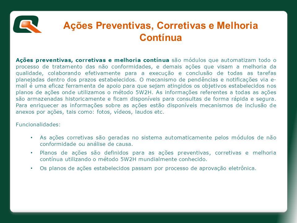 Ações Preventivas, Corretivas e Melhoria Contínua