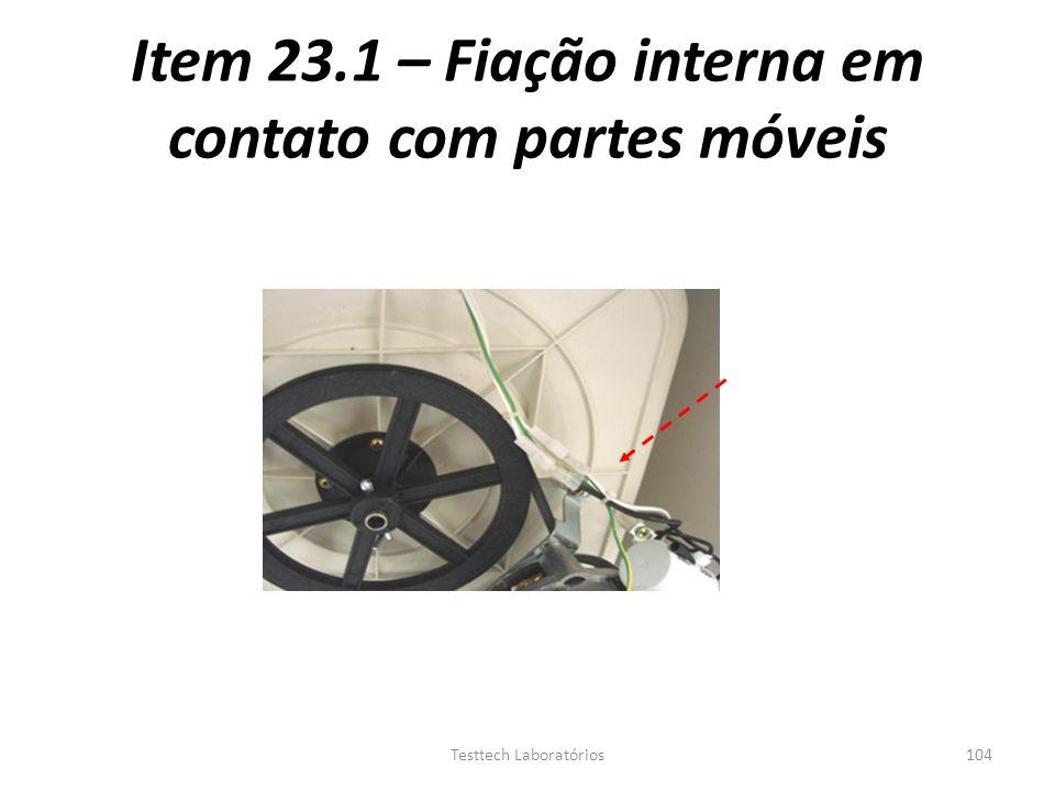 Item 23.1 – Fiação interna em contato com partes móveis