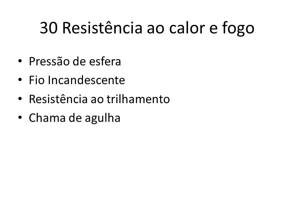 30 Resistência ao calor e fogo