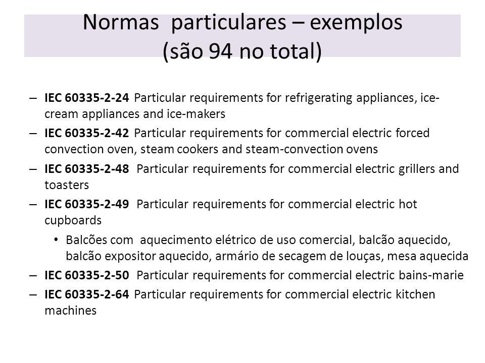 Normas particulares – exemplos (são 94 no total)