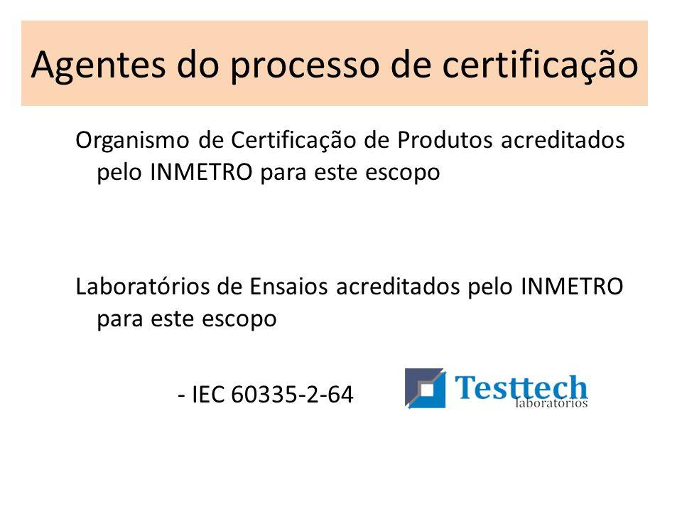 Agentes do processo de certificação