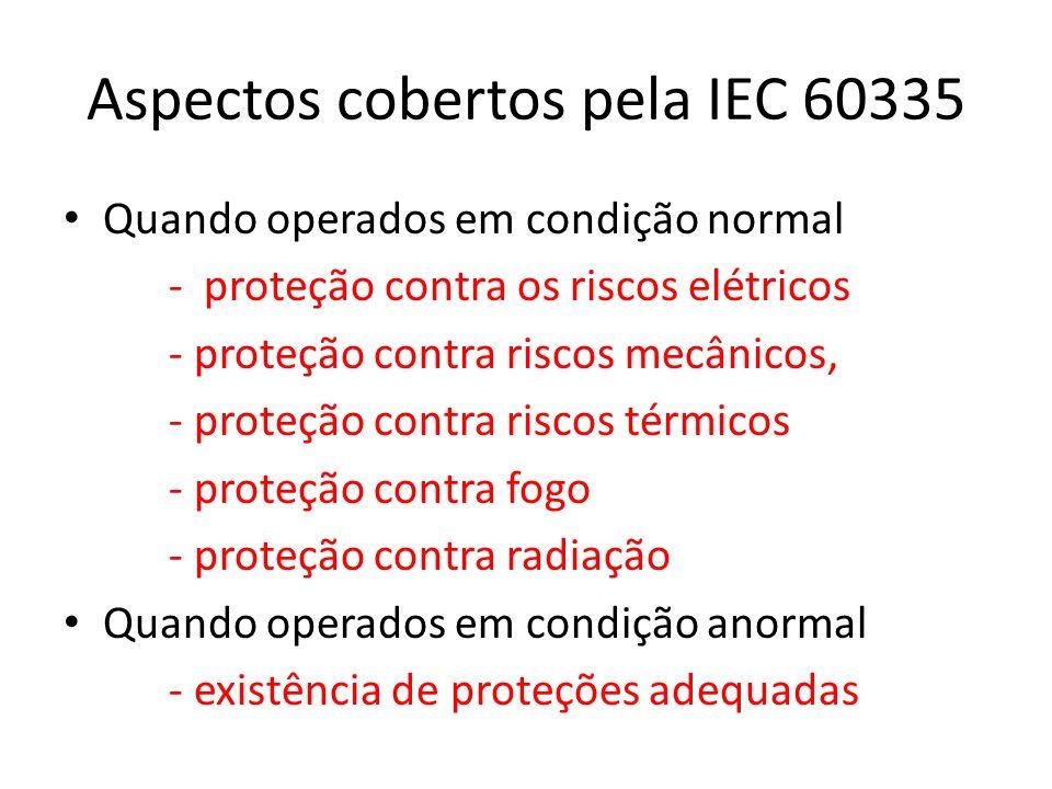 Aspectos cobertos pela IEC 60335