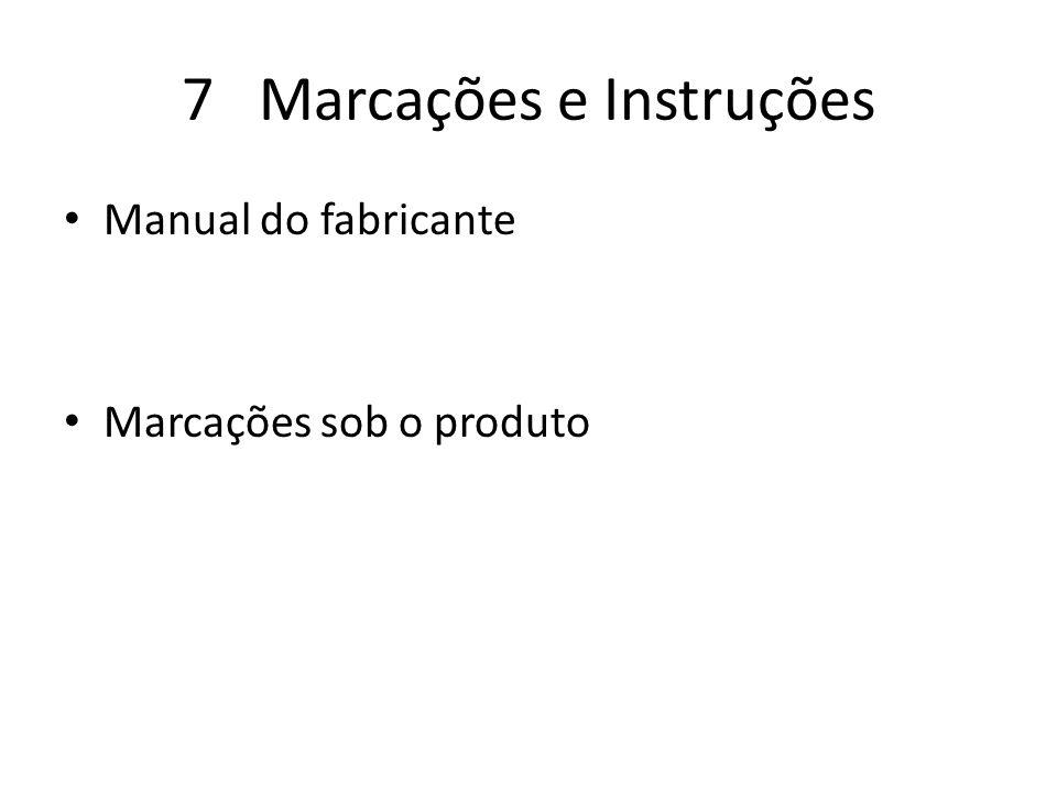 7 Marcações e Instruções