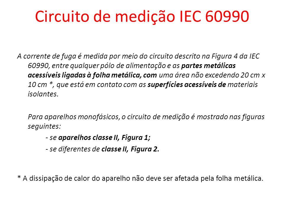 Circuito de medição IEC 60990
