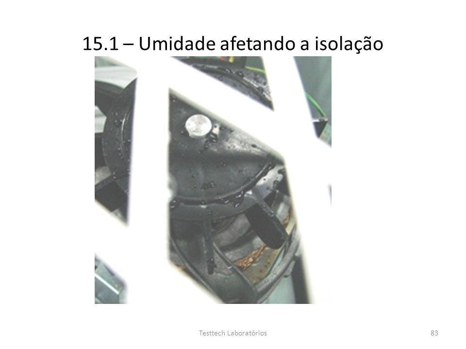 15.1 – Umidade afetando a isolação