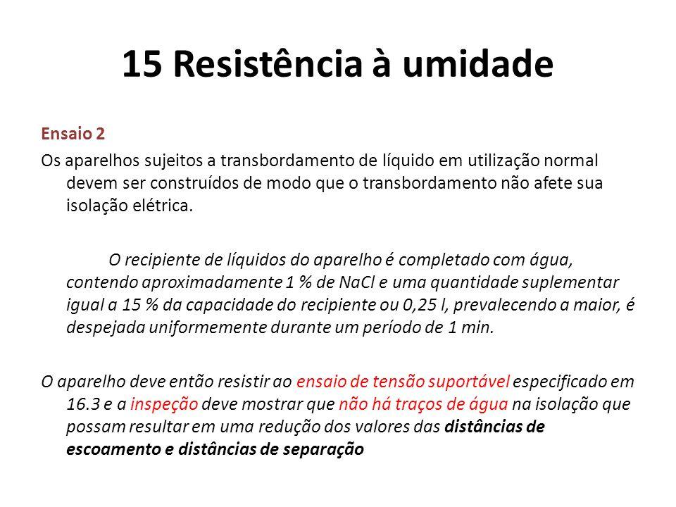 15 Resistência à umidade