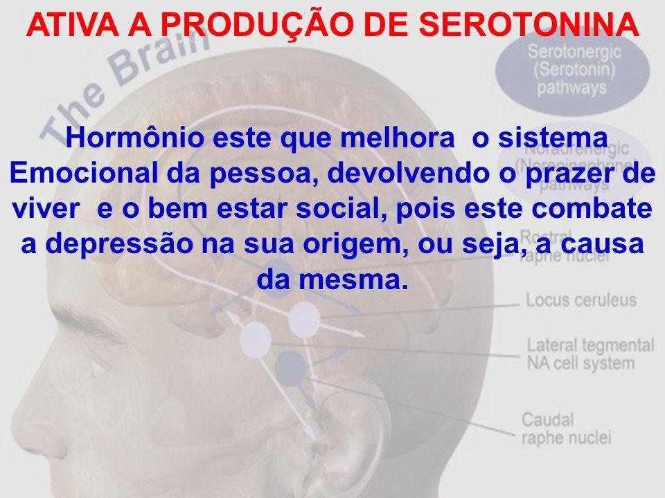 ATIVA A PRODUÇÃO DE SEROTONINA