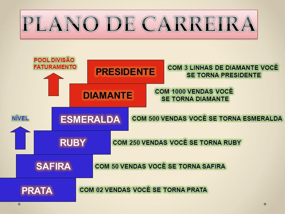 PLANO DE CARREIRA PRESIDENTE DIAMANTE ESMERALDA RUBY SAFIRA PRATA