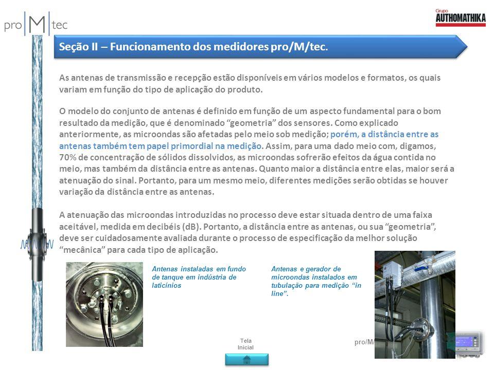 Seção II – Funcionamento dos medidores pro/M/tec.