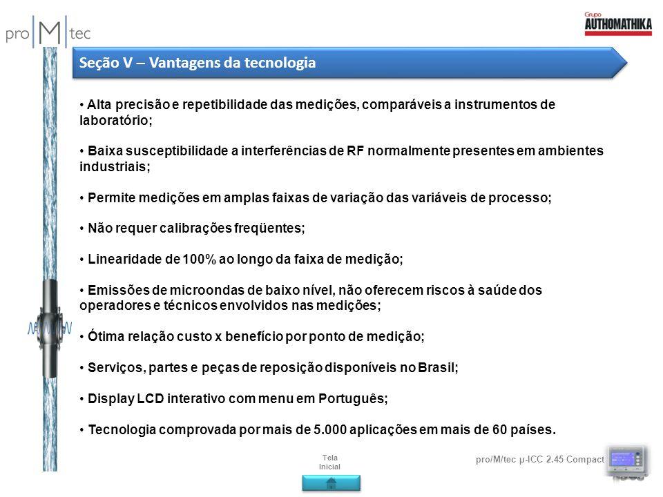 Seção V – Vantagens da tecnologia