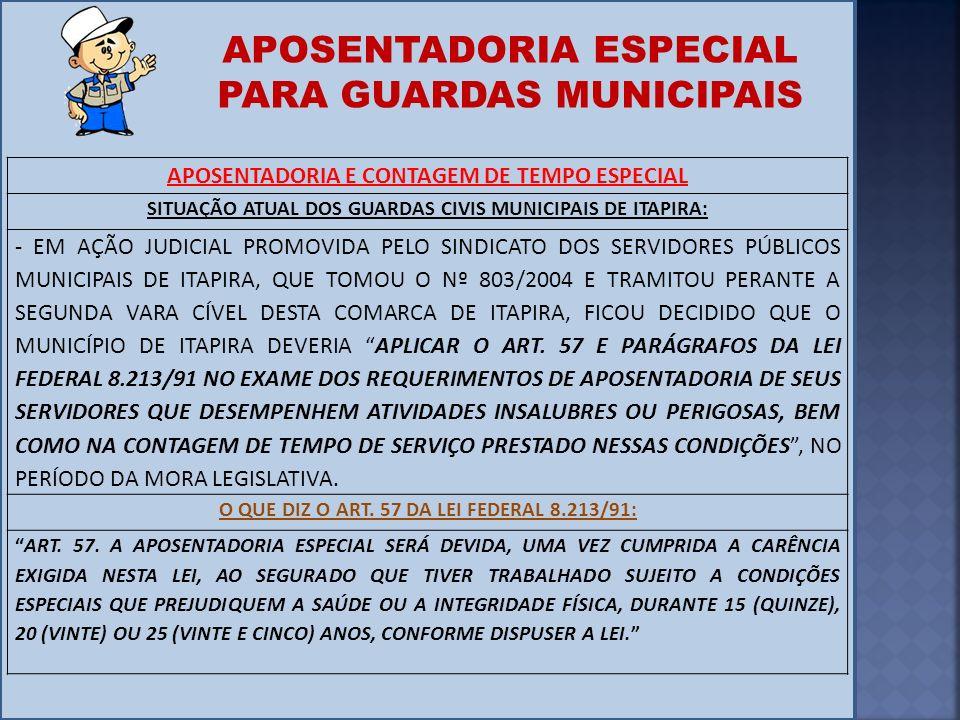 APOSENTADORIA ESPECIAL PARA GUARDAS MUNICIPAIS