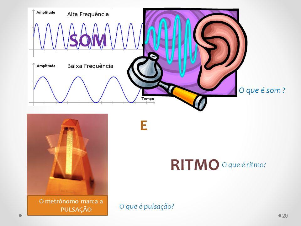 SOM RITMO E O que é som O que é ritmo O que é pulsação