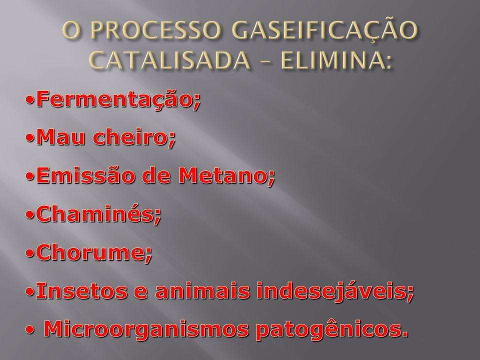 O PROCESSO GASEIFICAÇÃO CATALISADA – ELIMINA: