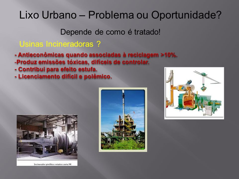 Lixo Urbano – Problema ou Oportunidade