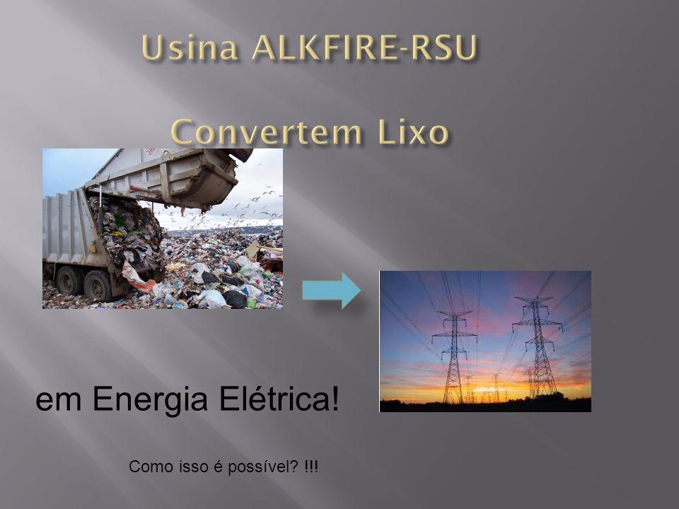 Usina ALKFIRE-RSU Convertem Lixo