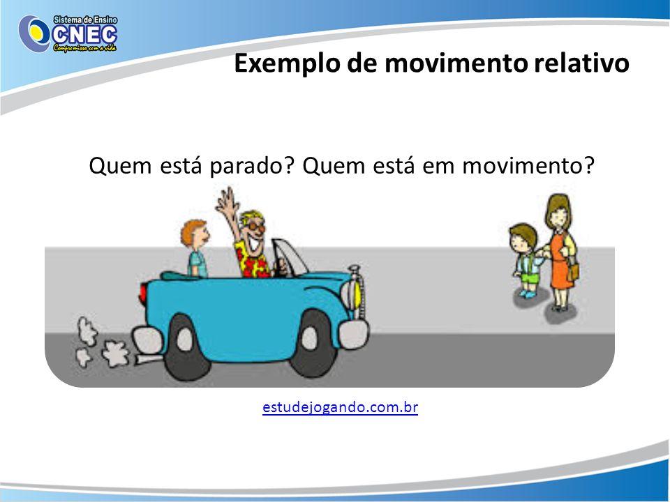 Exemplo de movimento relativo