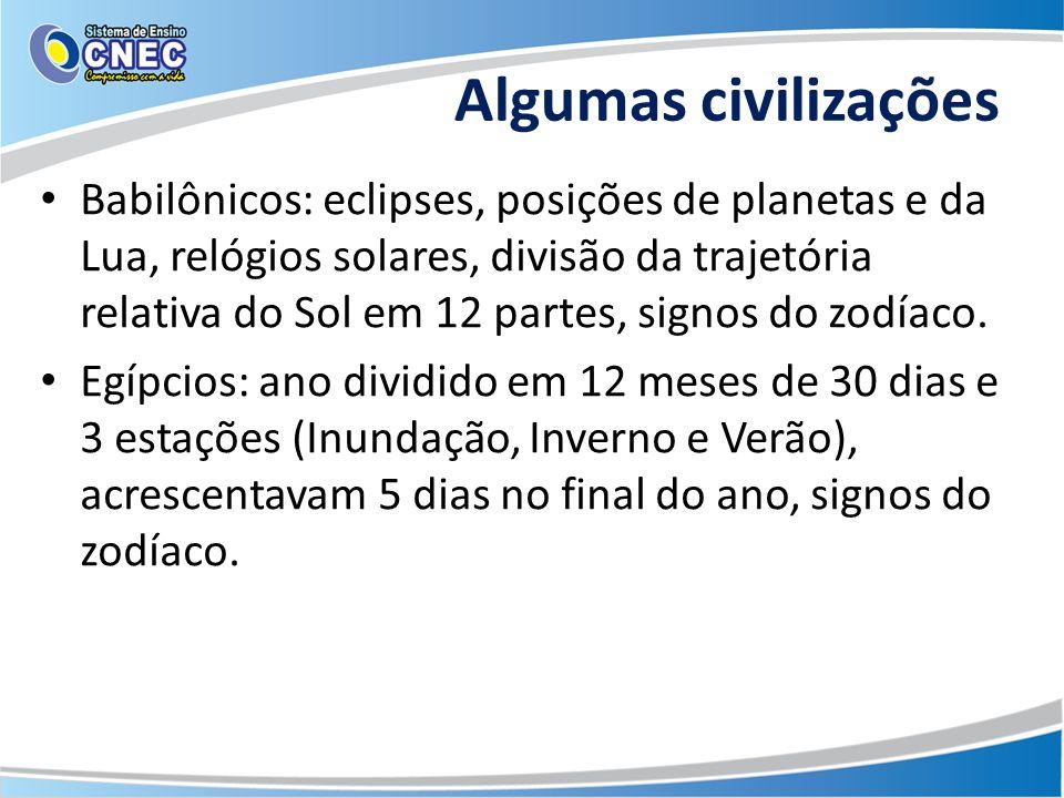 Algumas civilizações