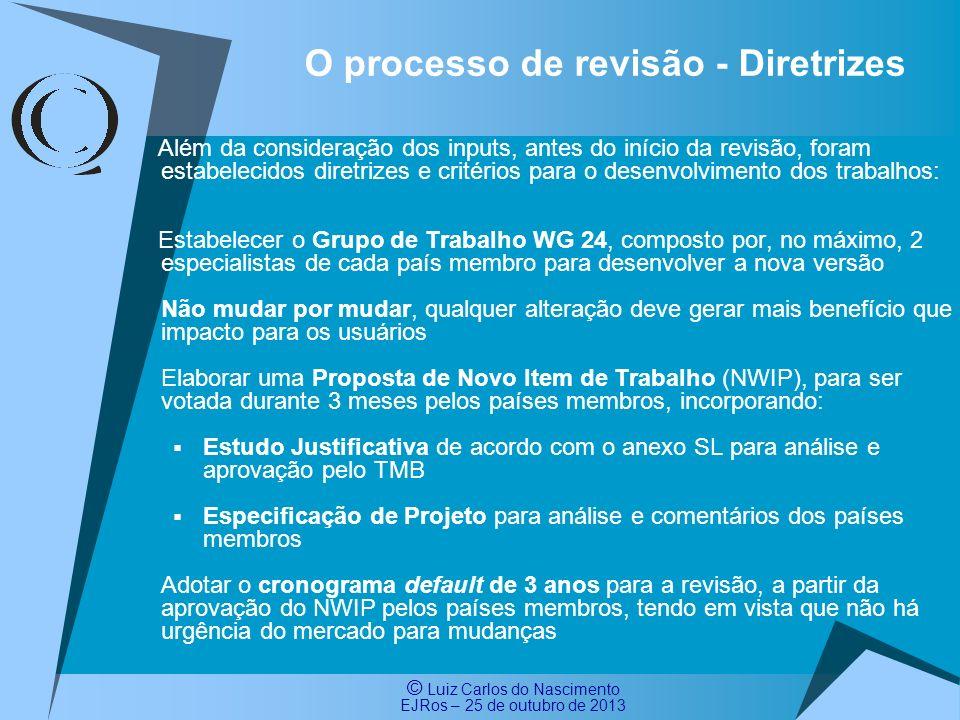 O processo de revisão - Diretrizes